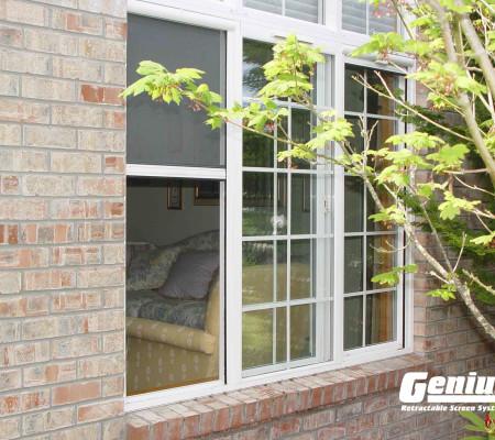 Retractable Cascade window screen vertical installation