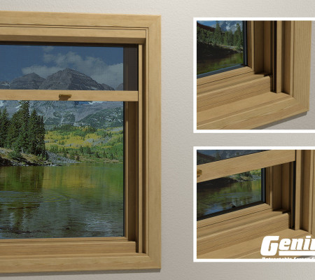 Incognito retractable window screens wood veneer professional finishes