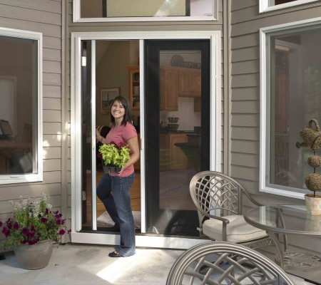 Milano 200 Retractable Screen Doors Give Easy Access to Your Patio