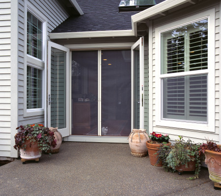 Milano 200 Retractable Screen Doors Work With Out-swing French Doors