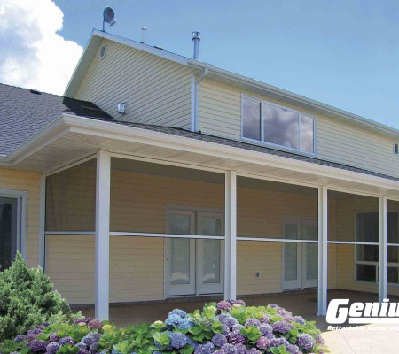 Olympic Retractable Screens Work on Covered Porches & Lanais