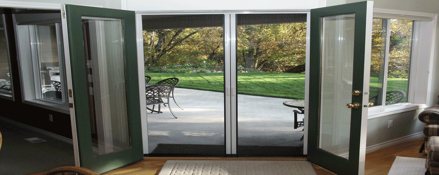 Screens for french doors that swing out 28 images for Andersen french door retractable screens