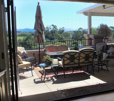 Specialty retractable screens puget sound invisible screens for Large opening patio doors
