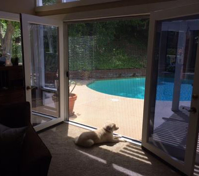ZigZag Retractable Screen Doors Are Pet Friendly