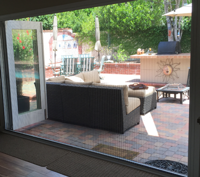 ZigZag Retractable Screen Door on Bifold Wide Opening Patio Entrance